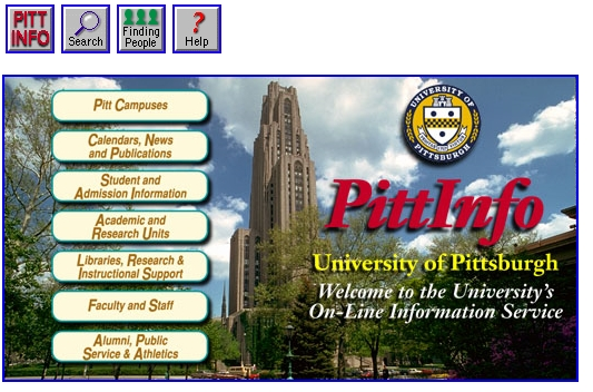 Pitt website from 1996