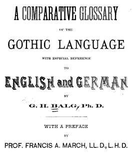A comparative glossary of the Gothic language