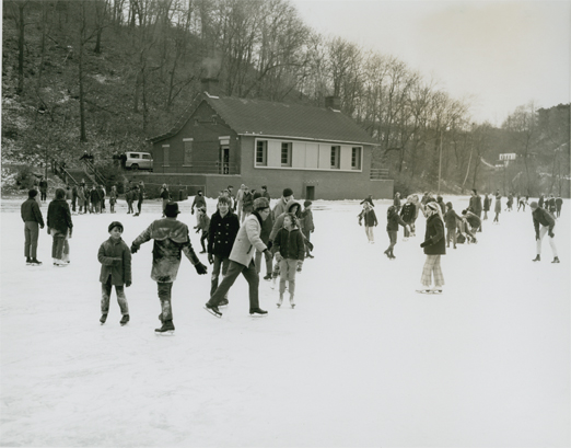 ice skating on panther hollow pond