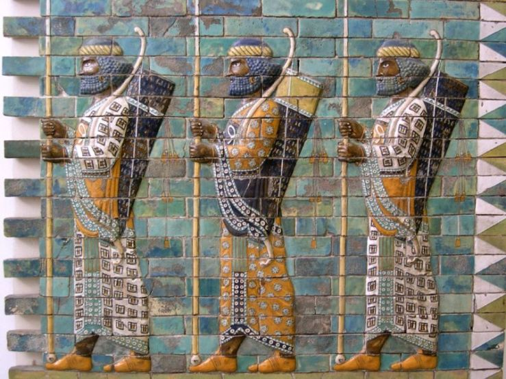 Persian Warriors from Ishtar Gate, Pergamon Museum